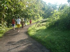jalan setapak menuju bukit