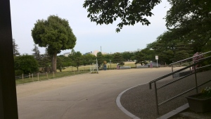 Halaman depan kastil Himeji
